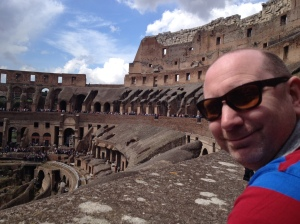 My 40 year old boy on his birthday trip to Roma.